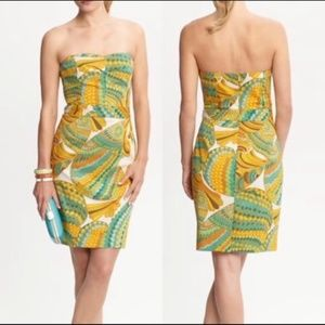 Banana Republic x Trina Turk strapless dress